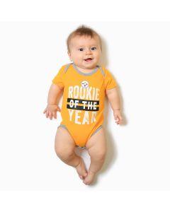 Pittsburgh Steelers Boys' Infant Kicking & Screaming Creeper Set - 3pk.