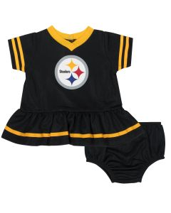 Pittsburgh Steelers Infant Girls' Dress and Diaper Cover Set