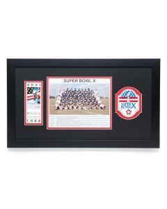 Pittsburgh Steelers Super Bowl X Commemorative Framed Ticket and Patch