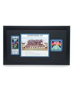 Pittsburgh Steelers Super Bowl XIII Commemorative Framed Ticket and Patch