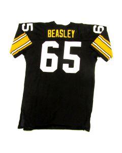 Pittsburgh Steelers #65 Tom Beasley 1980 Game Used Home Jersey
