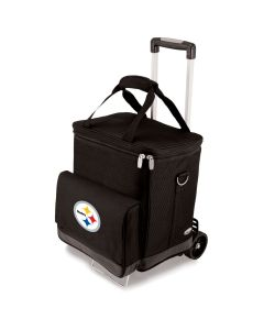 Pittsburgh Steelers Cellar Wine Cooler with Trolley