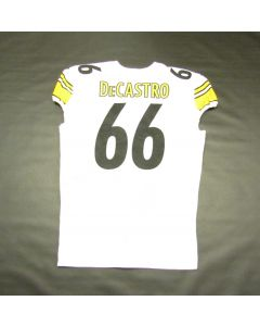 Pittsburgh Steelers #66 David DeCastro Game Used Away Uniform Set