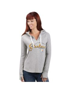 Pittsburgh Steelers Women's Touchdown Grey Hoodie