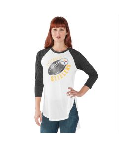Pittsburgh Steelers Women's Tailgate 3/4 Sleeve T-Shirt