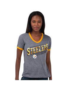 Pittsburgh Steelers Touch Women's Field Goal Short Sleeve T-Shirt