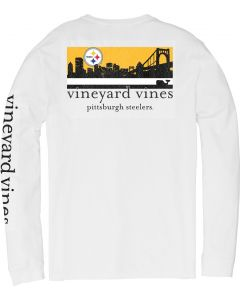 Pittsburgh Steelers Vineyard Vines City Scape Long Sleeve T-Shirt