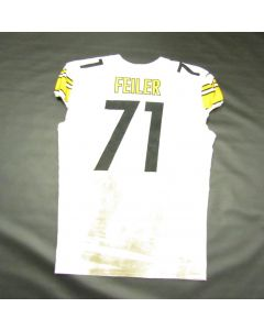 Pittsburgh Steelers #71 Matt Feiler Game Used Away Uniform Set