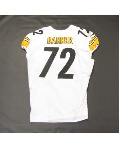 Pittsburgh Steelers #72 Zach Banner 2019 Game Used Away Jersey