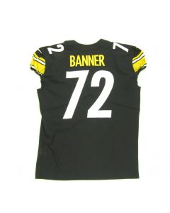 Pittsburgh Steelers #72 Zach Banner Game Used Home Jersey