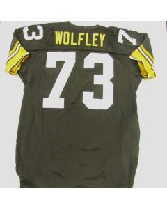 Pittsburgh Steelers 1984 Game-Used #73 Craig Wolfley Home Jersey