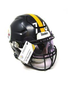 Pittsburgh Steelers 2019 Game Used Helmet Worn By #76 Chukwuma Okorafor