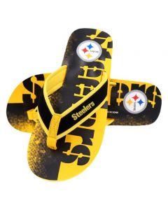 Pittsburgh Steelers Wordmark Contour Flip Flop
