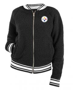 Pittsburgh Steelers Women's New Era Varsity Full Zip Sherpa