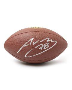 Pittsburgh Steelers #78 Alejandro Villanueva Autographed Wilson NFL 'The Duke' Replica Football