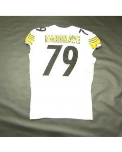 Pittsburgh Steelers #79 Javon Hargrave Game Used Away Uniform Set