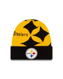 Pittsburgh Steelers Youth New Era Logo Whiz Knit Hat