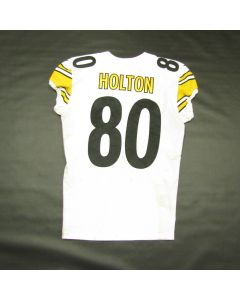Pittsburgh Steelers #80 Johnny Holton Game Used Away Uniform Set