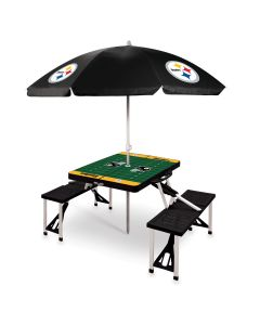 Pittsburgh Steelers Portable Picnic Table with Umbrella