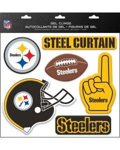 Pittsburgh Steelers Reusable Gel Window Clings