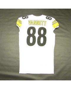 Pittsburgh Steelers #88 Nick Vannett Game Used Away Jersey