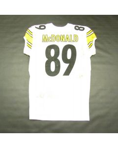 Pittsburgh Steelers #89 Vance McDonald Game Used Away Uniform Set