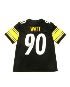 Pittsburgh Steelers #90 T.J. Watt Autographed Nike Limited Home Jersey