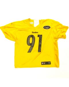 Pittsburgh Steelers #91 Stephon Tuitt 2019 Used Practice Jersey