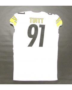Pittsburgh Steelers 9.14.2020 Game-Used #91 Stephon Tuitt Away Jersey