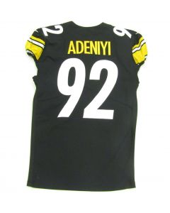Pittsburgh Steelers #92 Olasunkanmi Adeniyi Game Used Home Jersey