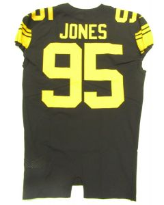 Pittsburgh Steelers 2016 Team Issued #95 Jarvis Jones Color Rush Jersey