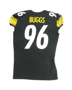 Pittsburgh Steelers #96 Isaiah Buggs Game Used Home Jersey