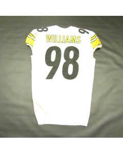 Pittsburgh Steelers #98 Vince Williams Game Used Away Uniform Set