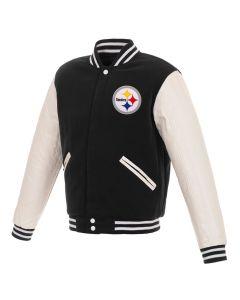 Pittsburgh Steelers Men's Reversible Mediumweight Fleece Jacket