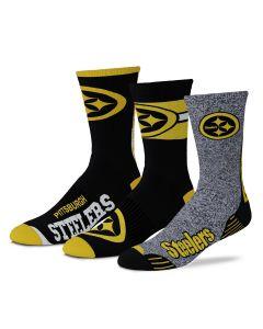 Pittsburgh Steelers Stimulus Socks - 3 pack