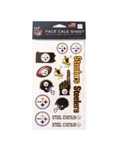 Pittsburgh Steelers Logo Face Tattoos