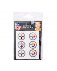 Pittsburgh Steelers Glitter Logo Face Tattoos - 6 pack