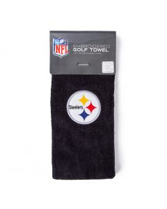 Pittsburgh Steelers Black Golf Towel with Carabiner