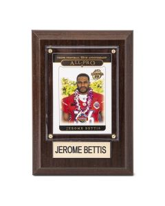 Pittsburgh Steelers #36 Jerome Bettis 4x6 Plaque