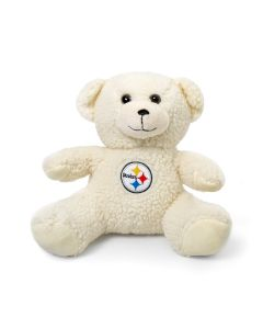 Pittsburgh Steelers Logo Ivory Sherpa Plush Bear