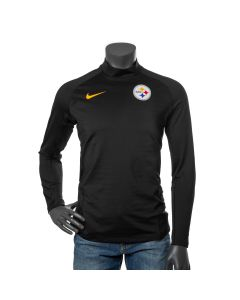 Pittsburgh Steelers Men's Nike Pro Therma Long Sleeve Black Mock Neck
