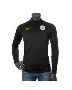Pittsburgh Steelers Men's Nike Pro Therma Long Sleeve Black Mock Neck