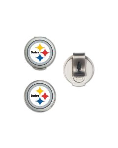 Pittsburgh Steelers Golfer's Hat Clip with Ball Markers