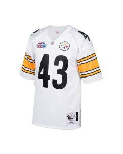 Troy Polamalu #43 Men's Mitchell & Ness Authentic Super Bowl XL Jersey