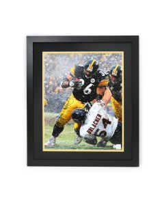 Pittsburgh Steelers #36 Jerome Bettis Autographed and Framed 16x20 Vertical Photo