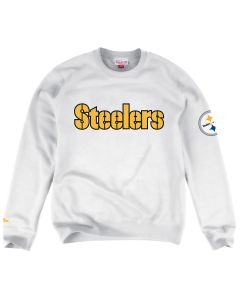 Pittsburgh Steelers Mitchell & Ness Wordmark Fleece Crew