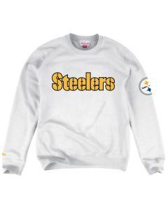 Pittsburgh Steelers Mitchell & Ness Wordmark Fleece Crew