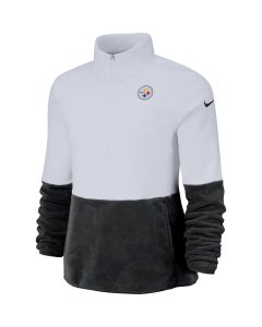 Pittsburgh Steelers Women's Nike Therma 1/2 Zip Fleece