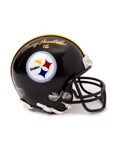 Pittsburgh Steelers #12 Terry Bradshaw Autographed Riddell Mini Helmet