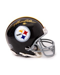 Pittsburgh Steelers #12 Terry Bradshaw Autographed Riddell Mini Throwback Helmet